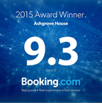 Booking.com 2015 Award Winner 9.3 out of 10
